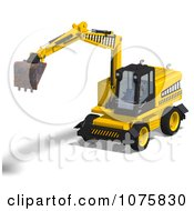 Clipart 3d Earth Mover Excavator 3 Royalty Free CGI Illustration by Ralf61