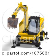 Clipart 3d Earth Mover Excavator 4 Royalty Free CGI Illustration by Ralf61