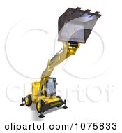 Clipart 3d Earth Mover Excavator 6 Royalty Free CGI Illustration by Ralf61