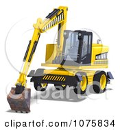 Clipart 3d Earth Mover Excavator 7 Royalty Free CGI Illustration by Ralf61