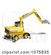 Clipart 3d Earth Mover Excavator 8 Royalty Free CGI Illustration by Ralf61