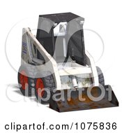 Clipart 3d Beat Up White Skidloader 1 Royalty Free CGI Illustration by Ralf61