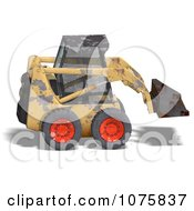 Clipart 3d Beat Up Yellow Skidloader 1 Royalty Free CGI Illustration by Ralf61