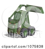 Clipart 3d Beat Up Green Skidloader Royalty Free CGI Illustration by Ralf61