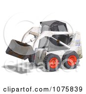 Clipart 3d Beat Up White Skidloader 2 Royalty Free CGI Illustration by Ralf61