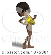 Clipart 3d Black Lifeguard Woman Wearing A Buoy Royalty Free CGI Illustration by Ralf61