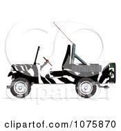 3d Zebra Jeep Wrangler Convertible Suv