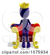 Clipart 3d Purple Person King Sitting On A Throne Royalty Free CGI Illustration by Ralf61