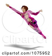 Clipart 3d Futuristic Woman Flying In A Pink Suit Royalty Free CGI Illustration by Ralf61