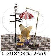 Clipart 3d Chair At A Weird Bus Stop 1 Royalty Free CGI Illustration by Ralf61