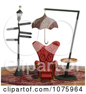 Clipart 3d Chair At A Weird Bus Stop 4 Royalty Free CGI Illustration by Ralf61