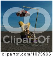 Clipart 3d Woman In A Chair At A Weird Bus Stop 1 Royalty Free CGI Illustration by Ralf61