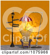 Clipart 3d Chair At A Weird Bus Stop 5 Royalty Free CGI Illustration by Ralf61