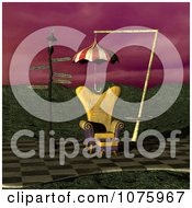 Clipart 3d Chair At A Weird Bus Stop 6 Royalty Free CGI Illustration by Ralf61