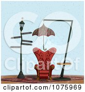 Clipart 3d Chair At A Weird Bus Stop 8 - Royalty Free CGI Illustration by Ralf61 #COLLC1075969-0172