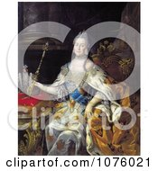 Queen Catherine II Of Russia With A Wand Catherine The Great Royalty Free Historical Clip Art by JVPD #COLLC1076021-0002