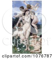 Nude Woman Surrounded By Cherubs Return Of Spring Le Printemps By William-Adolphe Bouguereau