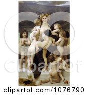 Woman Surrounded By Many Nude Children The Motherland By William-Adolphe Bouguereau
