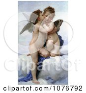Cupid And Psyche As Children Kissing By William-Adolphe Bouguereau