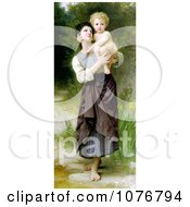Girl Holding Her Brother Brother And Sister By William Adolphe Bouguereau Royalty Free Historical Clip Art by JVPD