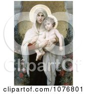 The Madonna Of The Roses By William Adolphe Bouguereau Royalty Free Historical Clip Art by JVPD
