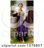 The Spinner By William Adolphe Bouguereau Royalty Free Historical Clip Art by JVPD