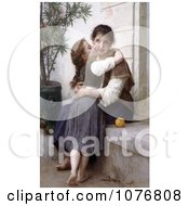 Girl Kissing Her MomS Cheek A Little Coaxing By William Adolphe Bouguereau Royalty Free Historical Clip Art by JVPD