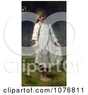 Girl Holding Her Dress Out The Curtsey By William Adolphe Bouguereau Royalty Free Historical Clip Art by JVPD