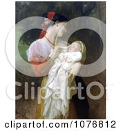 Photo Of A Young Mother Holding Her Baby Maternal Admiration By William Adolphe Bouguereau Royalty Free Historical Clip Art by JVPD