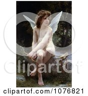 Cupid Seated With Bow And Arrows Love On The Look Out By William Adolphe Bouguereau Royalty Free Historical Clip Art by JVPD