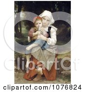 Breton Brother And Sister By William Adolphe Bouguereau Royalty Free Historical Clip Art