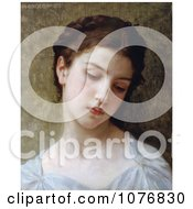 Sad Young Woman Head Of A Young Girl By William Adolphe Bouguereau Royalty Free Historical Clip Art