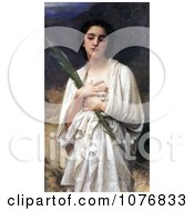 Young Woman Holding A Palm Leaf By William Adolphe Bouguereau Royalty Free Historical Clip Art