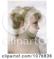 Profile Of A Little Blond Girl By William Adolphe Bouguereau Royalty Free Historical Clip Art by JVPD