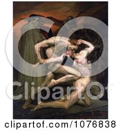 Men Fighting Dante And Virgil In Hell By William-Adolphe Bouguereau