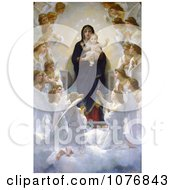 The Virgin With Angels By William Adolphe Bouguereau Royalty Free Historical Clip Art by JVPD #COLLC1076843-0002