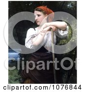 Girl Raking Hay The Haymaker By William Adolphe Bouguereau Royalty Free Historical Clip Art