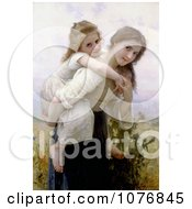 Girl Carrying Her Little Sister On Her Back Not Too Much To Carry By William Adolphe Bouguereau Royalty Free Historical Clip Art
