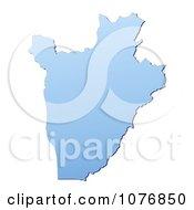 Gradient Blue Burundi Mercator Projection Map by Jiri Moucka