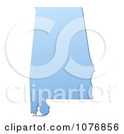 Clipart Gradient Blue Alabama United States Mercator Projection Map Royalty Free CGI Illustration by Jiri Moucka