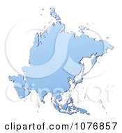Gradient Blue Asia Mercator Projection Map by Jiri Moucka