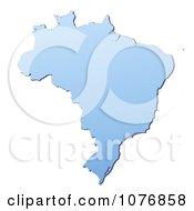 Gradient Blue Brazil Mercator Projection Map by Jiri Moucka