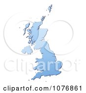 Clipart Gradient Blue United Kingdom Mercator Projection Map Royalty Free CGI Illustration by Jiri Moucka