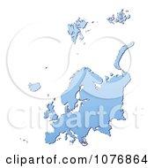 Clipart Gradient Blue Europe Mercator Projection Map 1 Royalty Free CGI Illustration by Jiri Moucka
