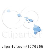 Clipart Gradient Blue Hawaii United States Mercator Projection Map Royalty Free CGI Illustration by Jiri Moucka