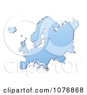 Gradient Blue Europe Mercator Projection Map 2 by Jiri Moucka