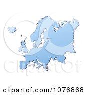 Clipart Gradient Blue Europe Mercator Projection Map 2 Royalty Free CGI Illustration by Jiri Moucka