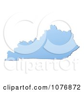 Clipart Gradient Blue Kentucky United States Mercator Projection Map Royalty Free CGI Illustration