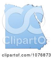 Clipart Gradient Blue Egypt Mercator Projection Map Royalty Free CGI Illustration by Jiri Moucka