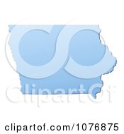 Clipart Gradient Blue Iowa United States Mercator Projection Map Royalty Free CGI Illustration by Jiri Moucka